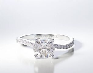PAVE SOLITAIRE RING ENG059